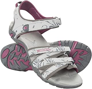 Mountain Warehouse Santorini Womens Wide Fit Sandals - Adjustable Straps Ladies Shoes, Cushioned Insole Beach Shoes, Rubbe...