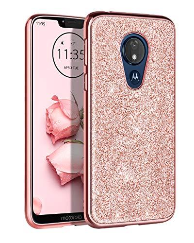 DOMAVER Moto G7 Power Case, Motorola G7 Power Case, Moto G7 Supra/G7 Optimo Maxx/G Power 7th Gen (Metro) Case Slim Glitter Shockproof Protective Cell...