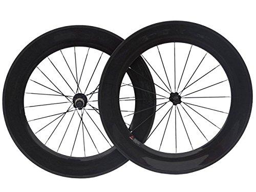 Carbone 3.K Pour Vélo de Route Tubulaire Roues 88.Mm Jante de Roue de Vélo