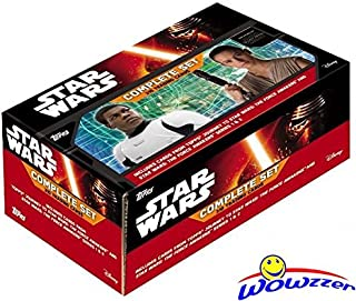 """2016 Topps Star Wars The Force Awakens EXCLUSIVE Complete 310 Card Factory Sealed Factory Set! Every Card has Special """"Topps Complete Set"""" Foil Stamp on it! First Ever Topps Star Wars Complete Set!"""