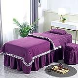 XKun Funda de cama de belleza de cuatro piezas de alto grado simple belleza masaje cama falda 70 x 190 cm (28 x 75 pulgadas)