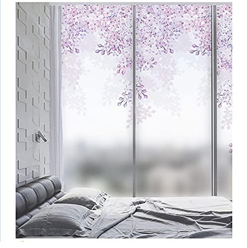 MSLZQMX Flor De Melocotón Vinilo para Ventanas De Privacidad - Película Electrostática No Adhesiva Y Opaca Decorativa para Ventanas De Cocinas Dormitorios 70x200cm