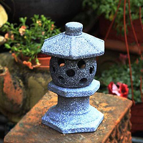 erddcbb Candeliere in Cemento in Stile Giapponese - Pagoda/Lanterna Kek Lok Si Vintage Orientale Imitazione Pietra, B + 21 cm