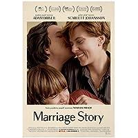 結婚物語映画壁アートポスターキャンバス絵画家の装飾写真キャンバス印刷家の装飾アートワーク-50x70cmフレームなし