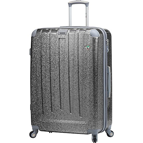 Mia Toro Italy Particella Hardside 26 Inch Spinner Luggage,silver, 26'