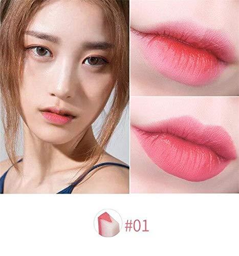 Lippenstift v schneidet zweifarbige Tönung seidig, lang anhaltende feuchtigkeitsspendende pflegende Lippenstiftbalsam - Pack: 1
