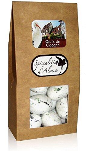 Oeufs de Cigogne, Storcheneier, Schokoladen Storch-Eier, französische Pralinen, 120g