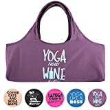 YogaPets Exercise Fun Yoga Mat Tote Bag | Large Mat Carrier with Strap & Side...