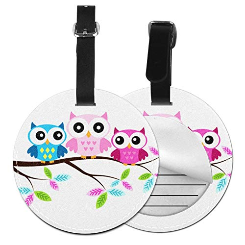 Luggage Tags Owl Mom Babies Sitting Suitcase Luggage Tags Business Card Holder Travel Id Bag Tag