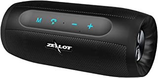 Portable Bluetooth Speakers Zealot S16 Wireless Speaker 20W Loud Stereo Bass Splashproof IPX4 Charger 4000mAh Battery 20H Playtime Hand Free Speakerphone TF Card Compatible for iPhone Samsung Android