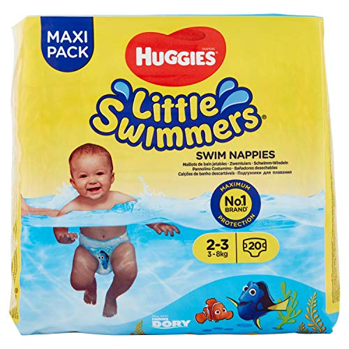 Huggies Little Swimmers Pañal Bañador Desechable Talla 2-3 (3-8 Kg) - 20 unidades