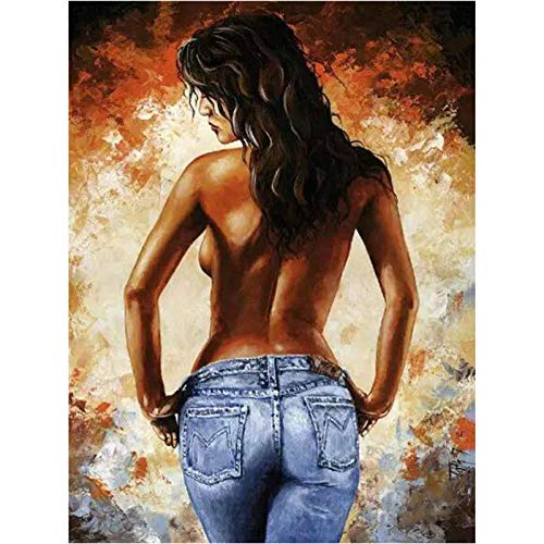 SKYTY DIY digital Painting Acrylic Paint Beginner Adult Children Hand-Painted Nude Body with Frame 40x50cm