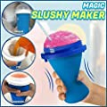 Magic Quick Frozen Smoothies Cup, Cooling Cup Squee Squeezy Peasy Slushy Ice Cream Maker, Sand Ice Cup Milk Shake Maker Slush Cool Bottle