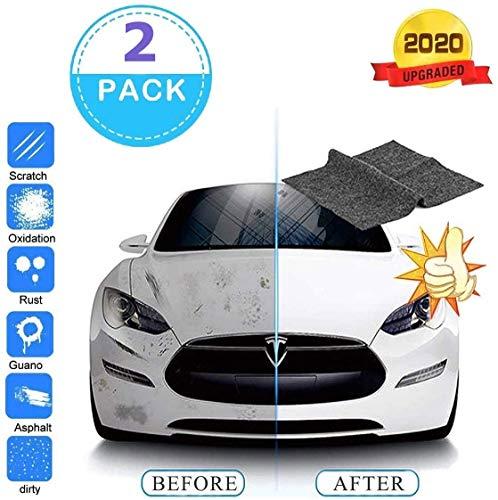 Nano Sparkle Tuch für Auto Kratzer Entfernen [2 Stück],Mehrzweck Auto Kratzer Reparatur,zur Reparatur von leichten Kratzfarben Und Wasserflecken,Autoreinigung,Autopflege-Schönheit,Nanotechnologie