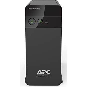 APC Back-UPS BX600C-IN 600VA / 360W, 230V, UPS System, an Ideal Power Backup & Protection for Home Office, Desktop PC & Home Electronics