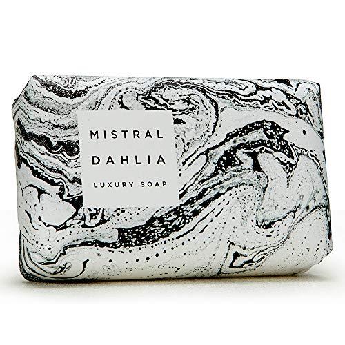 Mistral French 7 oz Luxury Bar Soap Marbles Dahlia