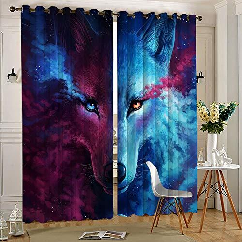Keepers Of The Universe Where Light and Dark Meet Room - Cortinas de oscurecimiento para habitación de niños, 63 x 63 cm