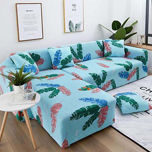 INFANDW Schonbezug Sofahusse, Stretch-Stoff, Couch-Bezug, Sofa-Möbelschutz, kompletter Bezug maschinenwaschbar(Blau, 3 Sitzer: 195-230cm)