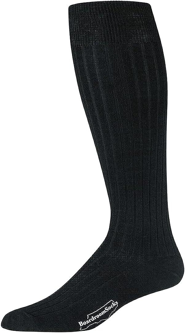 Merino Wool Dress Socks for Men – Over-the-Calf, Ribbed Wool Dress Socks for Size 8 -12 – Breathable, Reinforced Heel and Toe