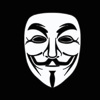 CCI Anonymous Mask Decal Vinyl Sticker|Cars Trucks Vans Walls Laptop|WHITE|5.5 In|CCI290