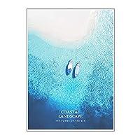 FUFU 窓用フィルム 装飾的なプライバシーウィンドウフィルム 青い海のパターンつや消しガラスフィルム 窓がしがみつく接着剤なし自宅の寝室のバスルームキッチンオフィスの自己静的 貼り直し可能 シン (Color : A, Size : 80x120cm)