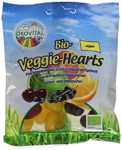 Ökovital Bio-Fruchtgummi Veggie-Hearts, vegan, glutenfrei, laktosefrei, 100 g