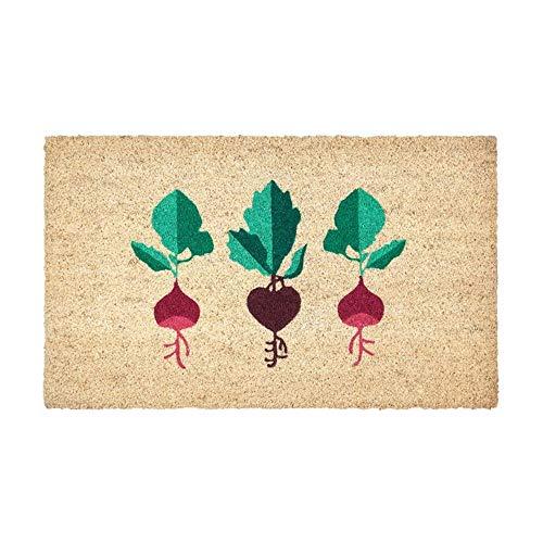 Gift Company - Radieschen - Fußmatte, Türmatte, Schmutzfangmatte - geprägt - Farbe: Natur - 45 x 75 cm