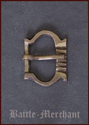 Battle-Merchant Hochmittelalter Schnalle aus Messing, Nr. 7 - Riemenbreite: bis ca. 20 mm