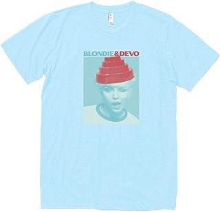 音楽 バンド シネマ BLONDIE&DEVO 623 Tシャツ 半袖 水色