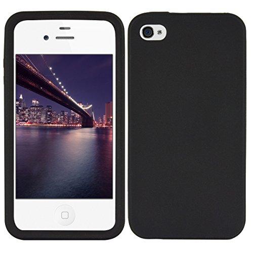 kwmobile Hülle kompatibel mit Apple iPhone 4 / 4S - Hülle Silikon - Soft Handyhülle - Handy Hülle in Schwarz
