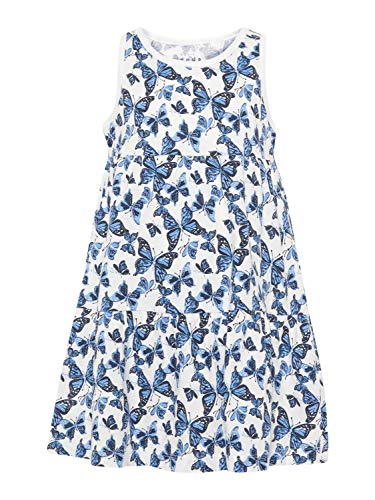 Name It Robe Fille VIGGA - 92, Bright White/Butterfly