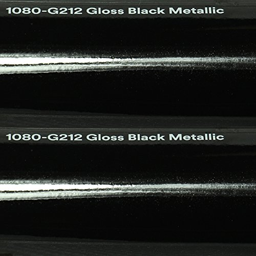 24,34€/m² 3M Autofolie Scotchprint Wrap Film 1080 Gloss G212 Black Metallic gegossene Glanz Profi Folie 152cm Breite BLASENFREI mit Luftkanäle