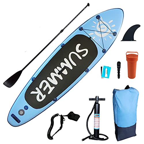 GUOGUODA Tablas Paddle Surf,Paddle Surf Hinchable Tabla Surf Set Tabla Sup Hinchable,Tabla de Stand Up Paddling,Tabla Paddle Surf Hinchable,Tabla de Sup,Tabla de Surf Hinchable 3 Metros
