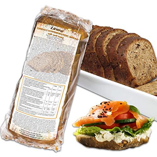 PANE BAULETTO ai CEREALI PROTEICO LINE@, alto contenuto di proteine, low carb, ipocalorico, senza zuccheri, per la FASE 1 della dieta (1 confezione)