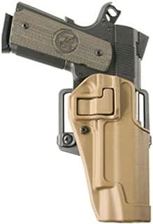 Blackhawk 410503CT-R Serpa CQC Holster Colt 1911 RH Tan Matte Finish w/BL and Paddle