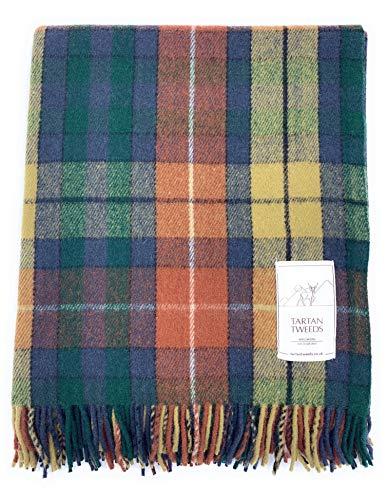 Tartan Tweeds, tappeto/coperta da picnic in lana tartan da viaggio , Antique Buchanan, Taglia unica