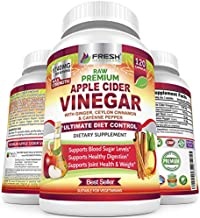 Premium Apple Cider Vinegar Pills Max 1740mg with Mother - 100% Natural & Raw with Ceylon Cinnamon, Ginger & Cayenne Pepper - Ideal for Healthy Blood Sugar, Detox & Digestion-120 Vegan Capsules