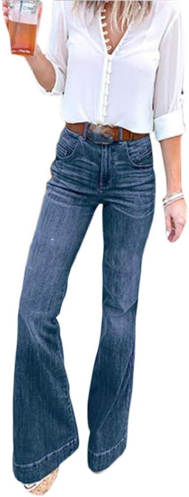 Ai Moichien Pantalones Vaqueros Acampanados De Campana De Mezclilla Para Mujer Vaqueros Pitillo De Tiro Alto Pantalones De Adelgazamiento Comodos Y Elasticos Amazon Es Ropa Y Accesorios