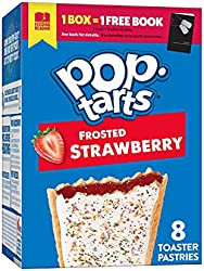 Pop-Tarts Toaster Pastries, Breakfast Foods, Baked in the USA, Frosted Strawberry, 13.5oz Box (8 Toa