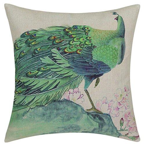 Euphoria chendongdong pavo real de la flor de la decoración Oriental funda de cojín manta almohada burrda