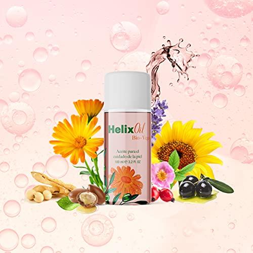 Derma Helix Oil- Bio Vegetal- Estrias Aceite reparador para el Cuidado de la Piel, Estrías, Celulitis, Cicatrices, Manchas Hidratación profunda. Tratamiento Corporal y Facial, Fresh, 100 ml