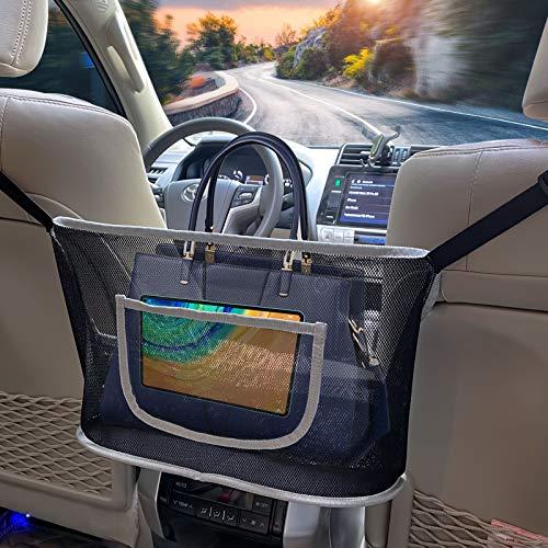 Car Organizer and Storage Back Seat Net Pocket Purse Holder for Car Accessories Women Handbag (Middle)