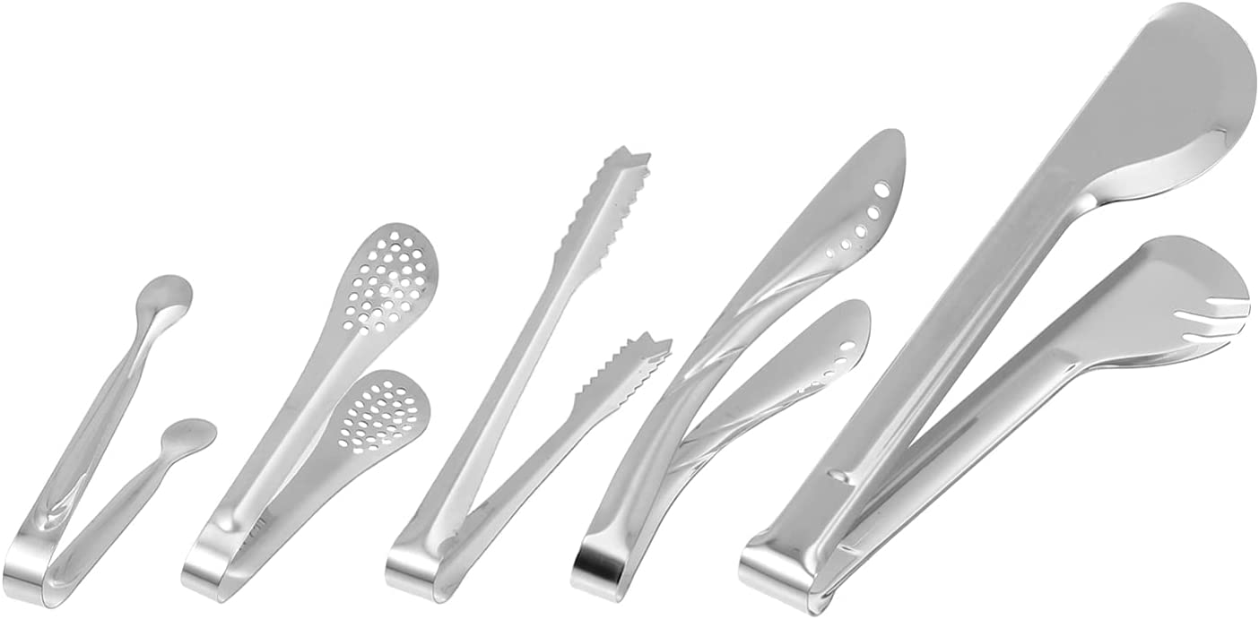 Cabilock 5pcs Stainless Steel Ice Cubes Sugar B Coffee Tongs We Albuquerque Mall OFFer at cheap prices
