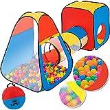 KIDIZ Spielzelt Spielhaus Babyzelt 200 Bälle Bällebad Kinderzelt | Ideal für Zuhause & im Garten...