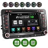 XOMAX XM-10GA Autoradio con Android 10 adatto per VW SEAT SKODA I Quad Core, 2GB RAM, 32GB ROM I Navigatore GPS I Supporto WIFI, 4G, DAB, OBD2 I Bluetooth I Touch Screen 7'' I DVD, CD, USB, SD, RDS