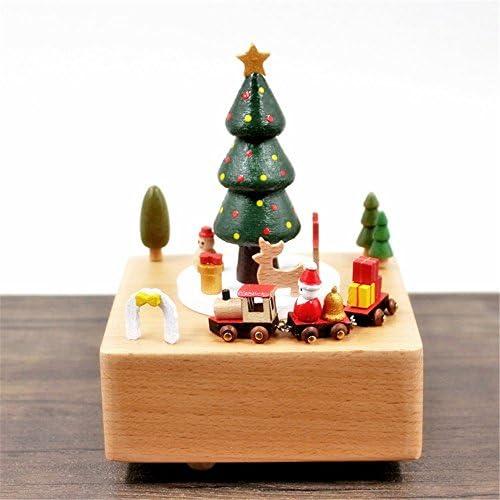 YuFLangel Massivholz-Weißnachtsspieluhr-Spieluhr-kreative Geschenke Handwerks-Geschenke