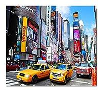 KIAJ 油絵 数字キットによる絵画 塗り絵 大人 手塗り DIY絵 デジタル油絵 40x50cm ニューヨークのストリートビュー (フレームレス)