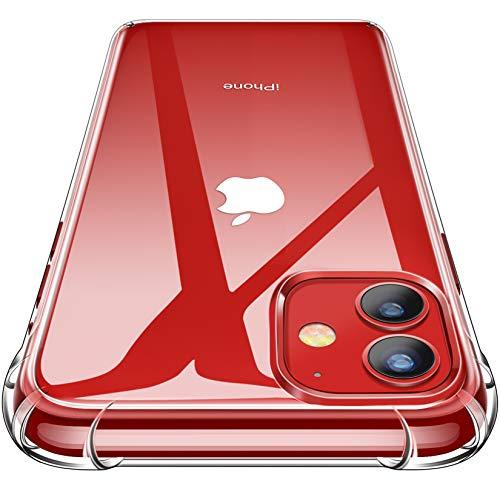 CANSHN Cover Compatibile con iPhone 11, Custodia Trasparente per Assorbimento degli Urti con Paraurti in TPU Morbido [Protettiva Sottile] per iPhone 11 da 6.1 Pollici - Trasparente