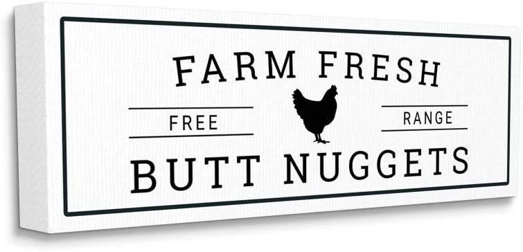 Stupell Industries Farm Ranking TOP1 Fresh Butt Award Chicken Word Funny D Nuggets