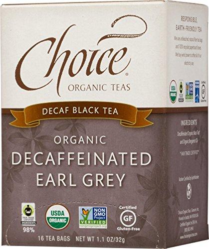 Choice Organic Teas Black Tea, 16 Tea Bags, Decaffeinated Earl Grey